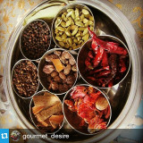 #Repost from @gourmet_desire  Traditional Indian spice box :) #indiancooking #foodie #indiatravel #spiceroute #IncredibleIndia #gourmetdesire