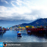 #Repost from @traveltomtom  A shikara ride around Dal Lake in Kashmir is a colorful one in Autumn! It can get cold, but the provided blanket keeps you warm.  Its so peaceful and relaxing that you might fall asleep! ???? #lifeinkashmir
